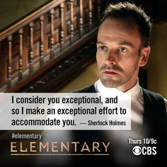 Elementary | Sherlock to Watson --Because I love pretty much anything involving Sherlock Holmes. Sherlock Holmes Tv Show, Sherlock Bbc, Holmes Movie, Elementary Show, Elementary Sherlock, Elementary My Dear Watson, Tv Show Quotes, Ncis, Detective