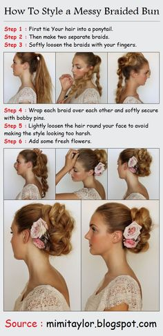 How To Style a Messy Braided Bun | PinTutorials