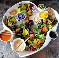 Korean Fried Chicken Salad DECONSTRUCTED
