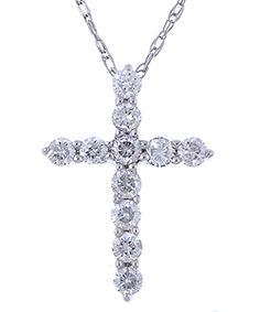 Shop for Eloquence White Gold ct Diamond Cross Necklace. Get free delivery On EVERYTHING* Overstock - Your Online Jewelry Destination! Long Chain Necklace, Diamond Pendant Necklace, Diamond Jewelry, Gold Pendant, Diamond Rings, Diamond Cross Necklaces, Silver Necklaces, Jewelry Necklaces, Charm Jewelry