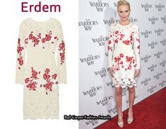 In Kate Bosworth's Closet - Erdem Embroidered Lace Crepe Dress - Red Carpet Fashion Awards