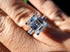 Diamonds House Note : This ring is made to order. Kindly confirm your ring size within 24 hours for speedy process of manufacturing. We offer Customization:- If you want to add personal touch to this piece contact us and we will create one j. Emerald Cut Diamonds, Diamond Cuts, The Ordinary, Jewlery, Sapphire, Dream Wedding, White Gold, Wedding Rings, Gowns