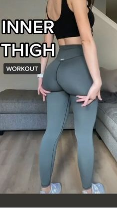 Gym Workout Videos, Gym Workout For Beginners, Fitness Workout For Women, Gym Workouts, Easy Daily Workouts, At Home Workouts, Thigh Workouts, Buttocks Workout, Slim Waist Workout