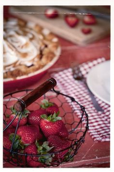 "yes-iamredeemed: ""Strawberry Rhubarb Meringue Pie: chasingdelicious.com """