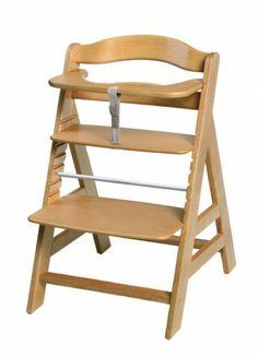 Chaise haute bois nature Hauck