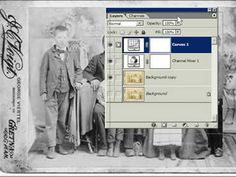 How to restore an old photo using the channel mixer and curves. Small adjustments with curves will make a huge difference.