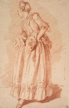 Woman standing with hand on her hip. From Jean-honoré Fragonard, Trois Crayons, Figure Painting, Figure Drawing, Portrait Art, Portraits, Jean Honore Fragonard, Stippling Art, Harvard Art Museum, Hands On Hips