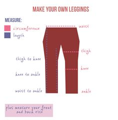 Make your own DIY leggings - how to measure