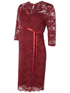 Love this rich red coloured lace maternity dress from MAMALICIOUS. Perfect occasion dress for the season.