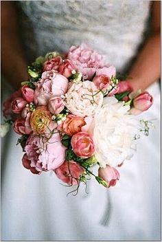 .Lovely mixed pink bridal bouquet #pinkbouquet #weddings #dahlia