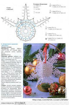 Crochet Christmas Ornaments, Christmas Crochet Patterns, Holiday Crochet, Snowflake Ornaments, Christmas Snowflakes, Christmas Knitting, Handmade Christmas, Christmas Decorations, Crochet Snowflake Pattern