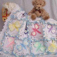 Baby Afghan Patterns, Baby Afghan Crochet, Baby Afghans, Crochet Blanket Patterns, Crochet Blankets, Knitting Patterns, Crochet Gratis, Free Crochet, Beginner Crochet