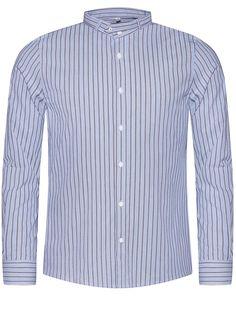 """Blaues Trachtenhemd mit Streifen """"Lenz H13"""" von Gottseidank"""