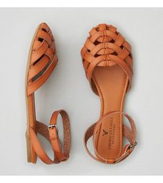 American Eagle Outfitters Men's & Women's Clothing, Shoes & Accessories AEO Strappy Ballet Flat - Buy One Get One Off Closed Toe Summer Shoes, Closed Toe Sandals, Strappy Sandals, Sandals Platform, Rothys Shoes, Apl Shoes, Snake Skin Shoes, American Eagle Outfitters Shoes, Gucci Mane