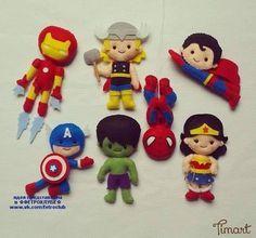 Como hacer superheroes de fieltro