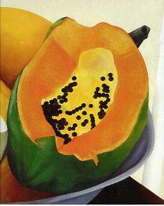Papaya - Ana Mercedes Hoyos Colombian Art, Fire Food, Still Life Fruit, Fruit Art, Watercolour Painting, Watermelon, Tropical Paintings, Drawings, Crafts
