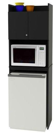 Small Refrigerator Cabinet Microwave Storage Shelf Dorm Room Furniture Kitchen