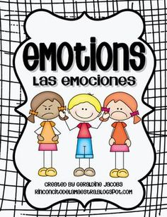 Emotions - Las Emociones (Dual Language English-Spanish) This set is packed with fun activities to learn about feelings: sad, happy, angry, scared, confused, excited.