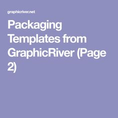Packaging Templates from GraphicRiver (Page 2)