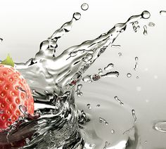 Strawberry Splash on Behance