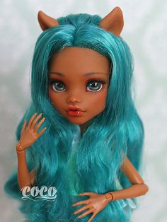 Monster High Clawdeen Wolf custom doll repaint by Co Co.