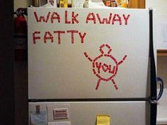 Walk away from the kitchen....
