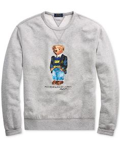 f5a3de3680ea Polo Ralph Lauren Men s Preppy Bear Fleece Sweatshirt