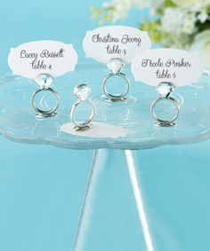 Look what I found on #zulily! With this Ring Jeweled Place Card Holder - Set of 12 by Kate Aspen #zulilyfinds