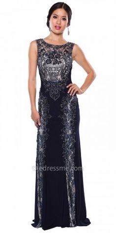 Elegantly Embellished Applique Evening Dress By Atria #edressme