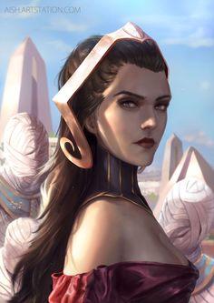Liliana Vess by Jessica Aumaitre - Magic the Gathering Fantasy Art Women, High Fantasy, Fantasy Rpg, Medieval Fantasy, Dark Fantasy Art, Fantasy Girl, Fantasy Portraits, Character Portraits, Female Character Concept
