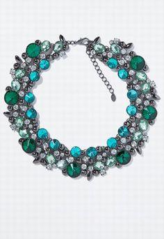 #Bisutería para tus #looks de #fiesta: Collar de piedras de colores XXL, de #Zara
