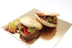 Mini pitas de Ibepan con pisto y carne #receta