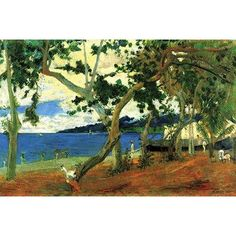 Buyenlarge 'Beach Scene 2' by Paul Gauguin Painting Print