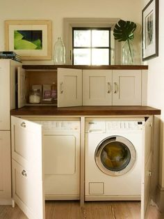 "Fantastic ""laundry room storage diy small"" info is offered on our internet site. Take a look and you wont be sorry you did. Apartment Storage, Laundry Room Inspiration, Vintage Laundry Room, Vintage Laundry, Room Storage Diy, Hidden Laundry, Laundry In Kitchen, Small Room Design"