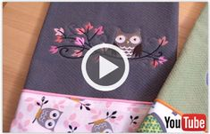 Free video with instructions on how to embroider a let's dish kitchn towel.