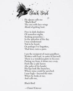 Black Bird by Clairel Estevez    www.thewishfulbox.com    #poetry #words #love #quotes #poems #beautifulwords #poet #poets #inspirationalquotes #romantic #romance #couples #couplegoals #relationshipgoals #relationships #friends #friendship