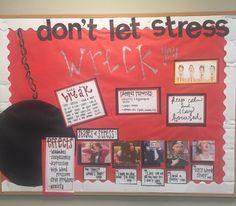 "dancersydney5: ""Miley Cyrus wrecking ball themed bulletin board on stress for…"