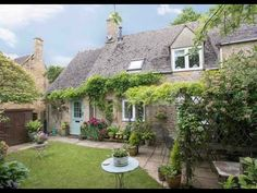 Holiday cottage in the Cotswolds - Graziers Cottage near Stow-on-the-Wold - YouTube Romantic Breaks, Wisteria, Potted Plants, Countryside, Gazebo, Exterior, Cabin, Luxury, House Styles
