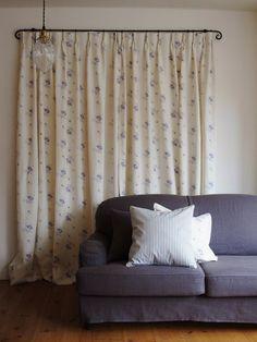 """コロニアルチェックオリジナルリネンファブリック """"Shabbychic Rose""""シリーズ。  #Fabric #Linen #Curtain"""