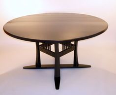 Custom Made Craftsman Style Dining Table In White Ash