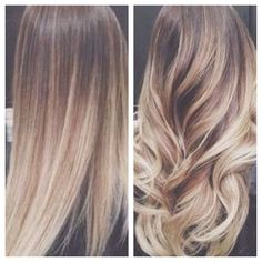 Ombré on a natural level 6/7