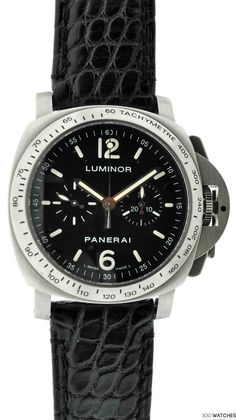 Mens Panerai Luminor Stainless Steel Chronograph Automatic | chronograph watches for men Item ID: 300W109310 | 300watches