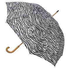 totes Wooden Stick Umbrella - Zebra Stripe, Zebra Stripes