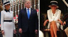 Melania Trump, în alb în vizită la Regina Angliei. Omagiu adus lui Audrey Hepburn. Imagini inedite în articol My Fair Lady, Buckingham Palace, Audrey Hepburn, Panama Hat, Hats, Fashion, Shelf, Moda, Hat