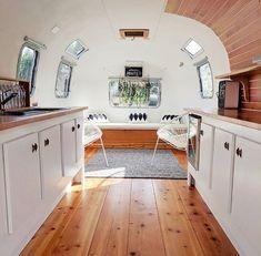 Airstream Living, Airstream Campers, Airstream Remodel, Airstream Renovation, Airstream Interior, Vintage Airstream, Remodeled Campers, Vintage Caravans, Vintage Campers
