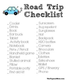 The Typical Mom shares lots of easy recipes your family will love but when we're. - The Typical Mom shares lots of easy recipes your family will love but when we're… - Road Trip Checklist, Road Trip Packing, Road Trip Essentials, Road Trip Hacks, Travel Checklist, Packing Tips, Travel Packing, Road Trip With Kids, Family Road Trips