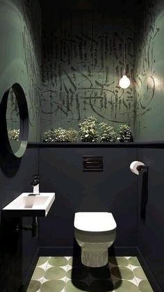Bathroom Design Luxury, Modern Bathroom Design, Interior Design Living Room, Restroom Design, Bathroom Designs, Small Toilet Design, Small Toilet Room, Bathroom Small, Art Deco Bathroom