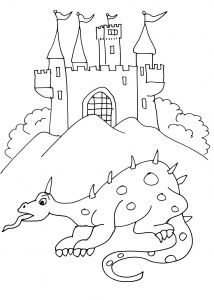 Knights And Dragons Free Printable Coloring Pages For Kids In 2020 Dragon Coloring Page Coloring Pages Free Printable Coloring Pages
