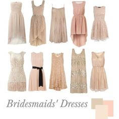 Bridesmaids' Dresses | Nude