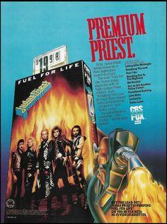Judas Priest Rob Halford Fuel For Life 1986 CBS VHS Video advertisement ad print #CBSFOX Classic Rock Artists, Vintage Advertisements, Ads, Rob Halford, Pin Up Photos, Judas Priest, Advertising, Life, Album